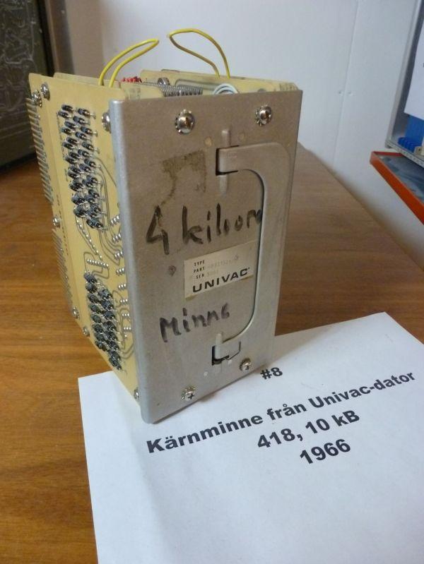 Kärnminnesmodul på 10kB till 418 II. Från 60-talet.