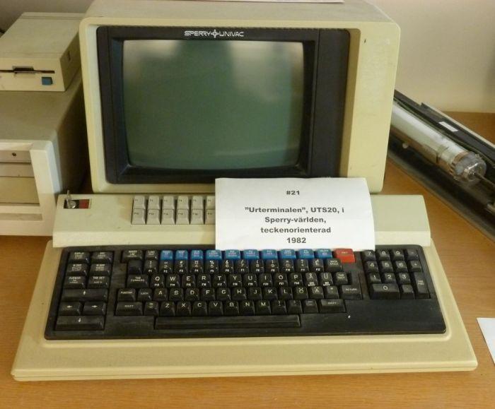 Terminal UTS20 med utbyggt tangentbord